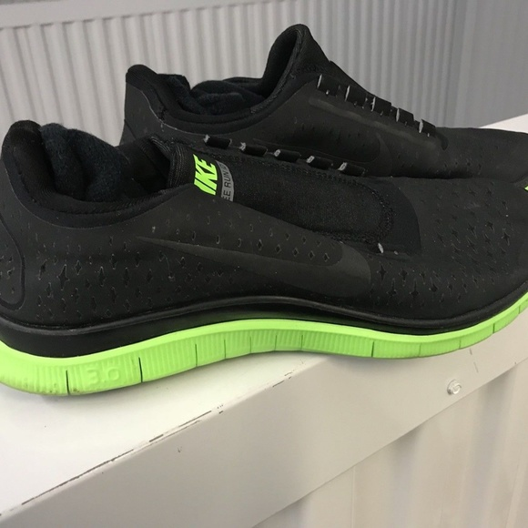 on sale 4c080 4ca88 Nike Free 3.0 V4 CUSTOM Black Lime Green Size 8.5W